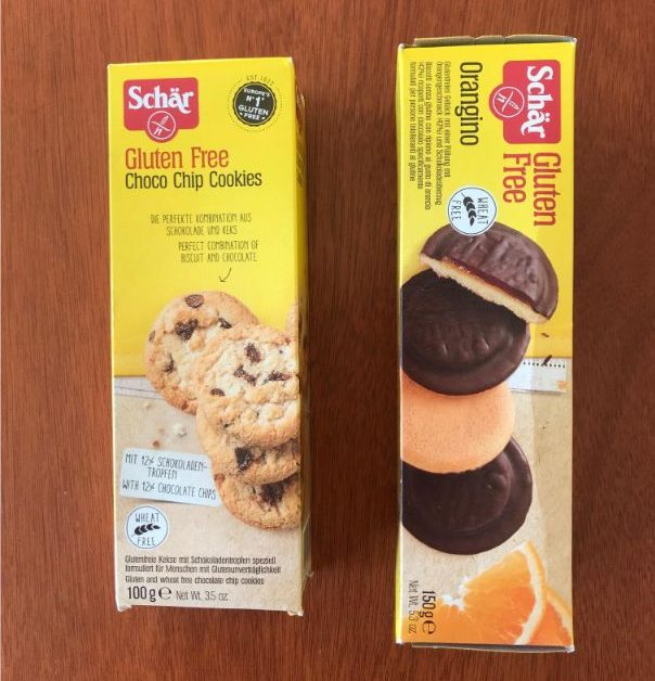 bezlepkové cookies a pišk´toty orangino