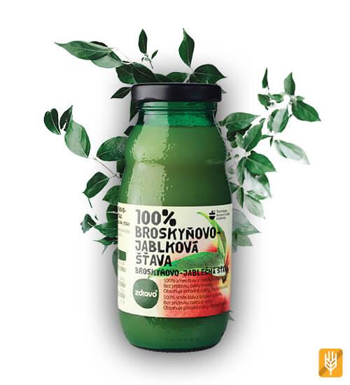 zdravo broskyňovo jablková šťava 10 kusov