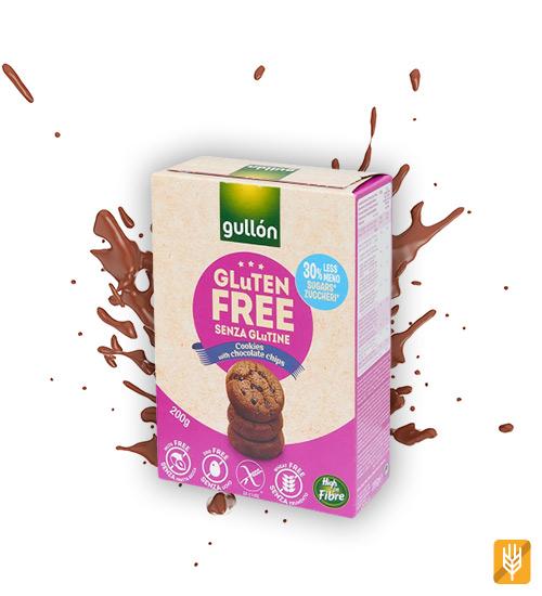 bezlepkové čokoládové sušienky - gullón